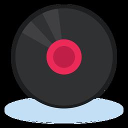 Música de icono de grabación de vinilo