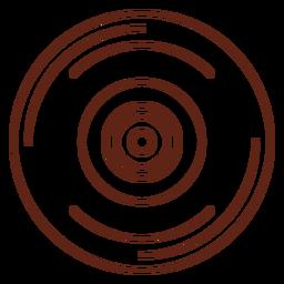 Elemento de traço de registro de vinil