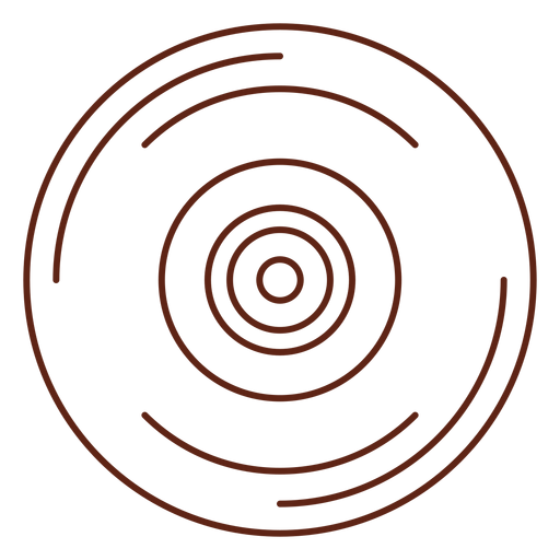Vinyl record stroke element Transparent PNG