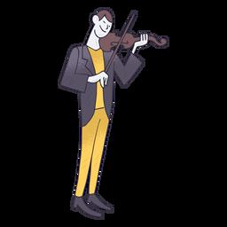 Dibujos animados de violín jugador