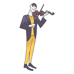 Violin player cartoon