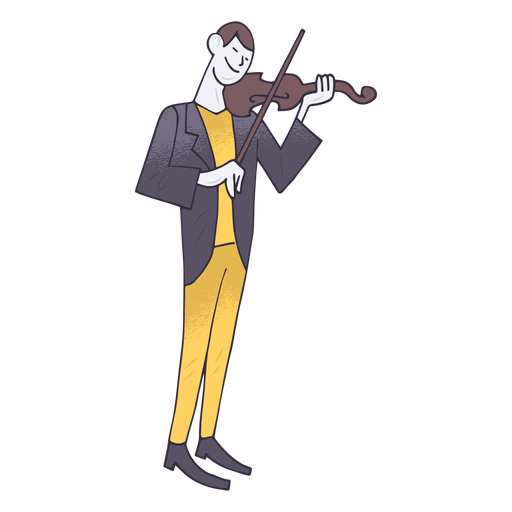 Violin player cartoon Transparent PNG