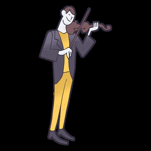 Violin player cartoon