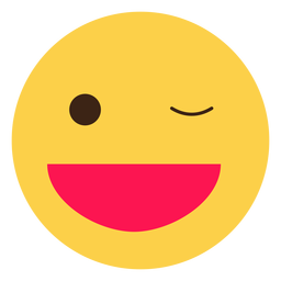 Elemento de emoticon hippie Wink