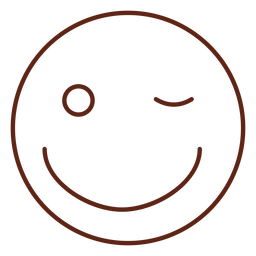 Elemento de trazo de emoticon de guiño