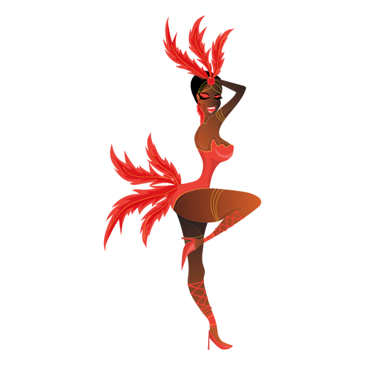 Woman carnival dancer Transparent PNG