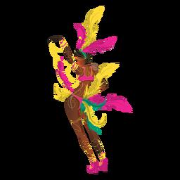 Woman carnival dancing