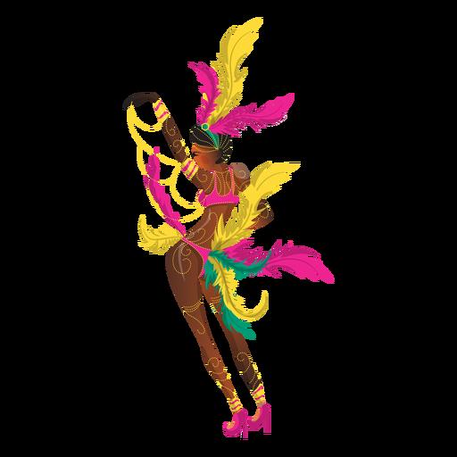 Frau Karneval tanzen Transparent PNG