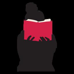 Mulher, leitura, livro, silueta, pessoas, leitura