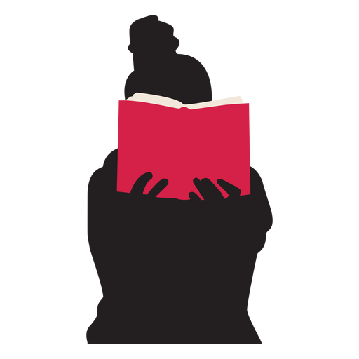 Woman reading book silhouette people reading Transparent PNG
