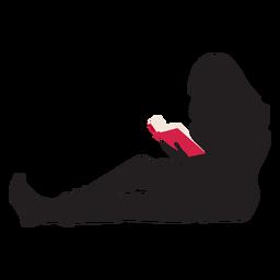 Mulher, leitura, silueta
