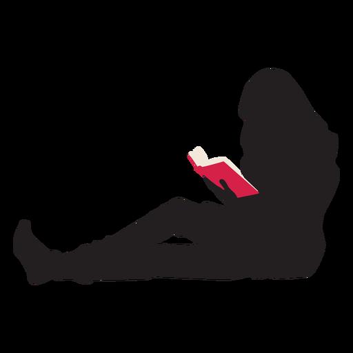 Mujer leyendo silueta Transparent PNG