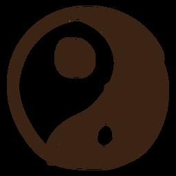 Doodle coloreado de Yin yang