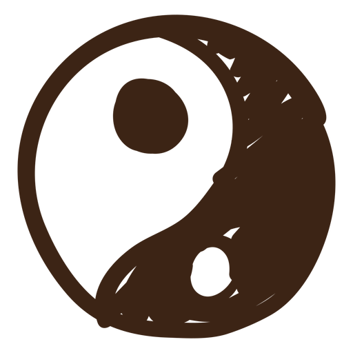 Yin yang colored doodle Transparent PNG