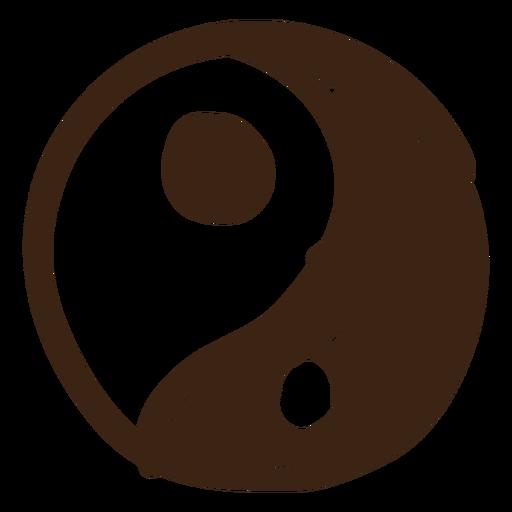 Yin yang colored doodle Transparent PNG