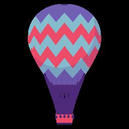 Zickzack-Heißluftballon