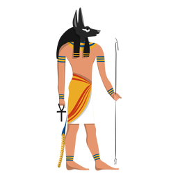 Anubis afterlife god illustration