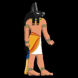 Anubis vida após a morte deus ilustração