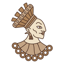 Aztec head illustration