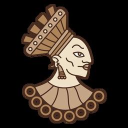 Ilustración de la cabeza azteca