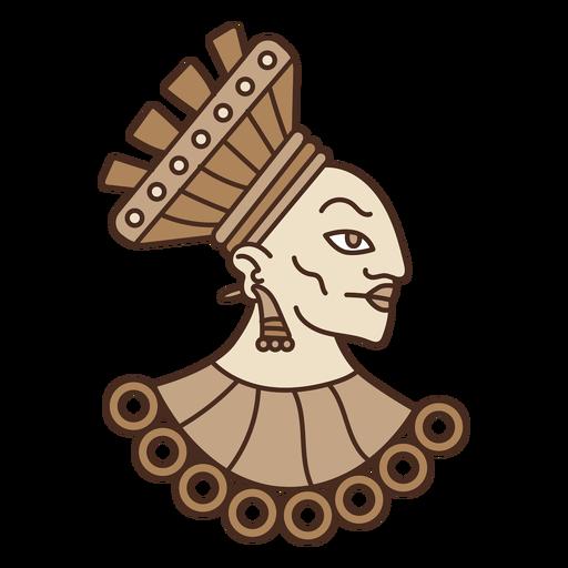 Ilustración de la cabeza azteca Transparent PNG