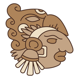 Máscara de cabeça asteca