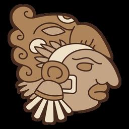 Máscara de cabeza azteca