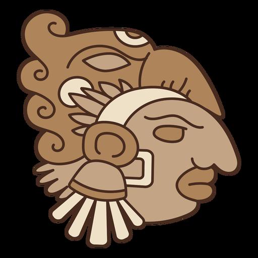 Aztec head mask Transparent PNG