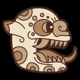 Ilustración de máscara azteca