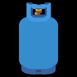 Ilustración del tanque de gas propano azul