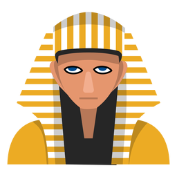 Ilustración de máscara de esfinge egipcia