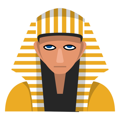 Egiptian sphinx mask illustration