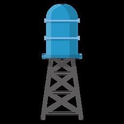 Ilustración de tanque de almacenamiento de agua elevado