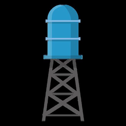 Ilustración de tanque de almacenamiento de agua elevado Transparent PNG