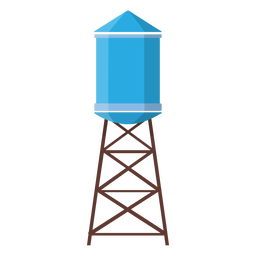 Elevated water tank illustration