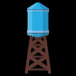 Ilustração de tanque de água elevado
