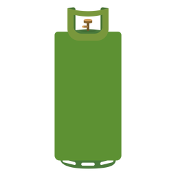 Green gas cylinder illustration