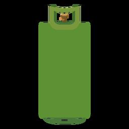Green gas cylinder illustration