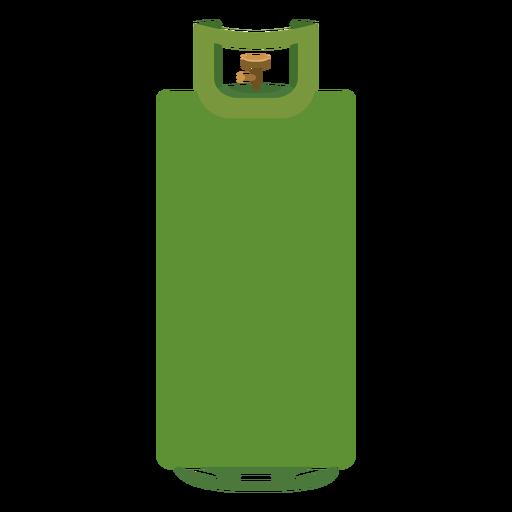 Ilustración de cilindro de gas verde Transparent PNG