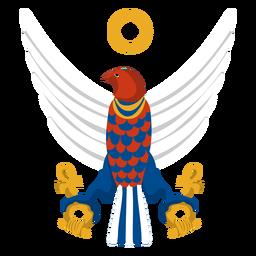 Ilustração do deus do falcão de Horus