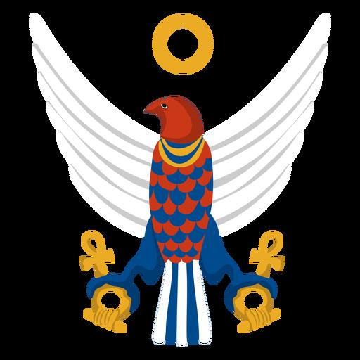 Horus falcon god illustration