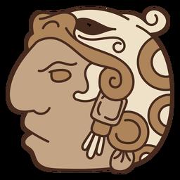 Máscara azteca nativa americana