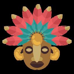 Máscara maia nativa americana