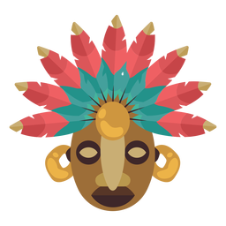 Máscara maya nativa americana