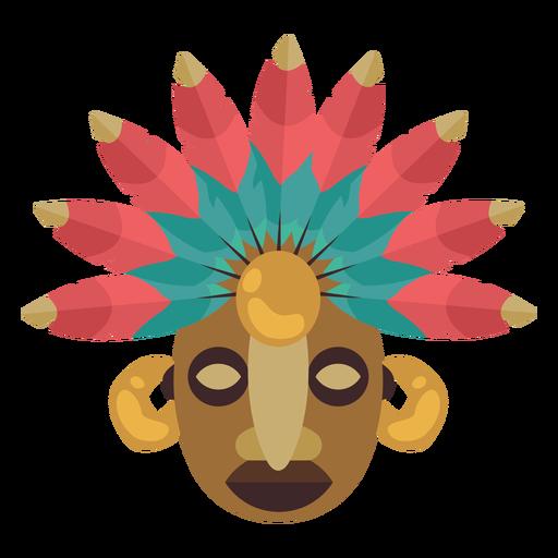 Máscara maia nativa americana Transparent PNG
