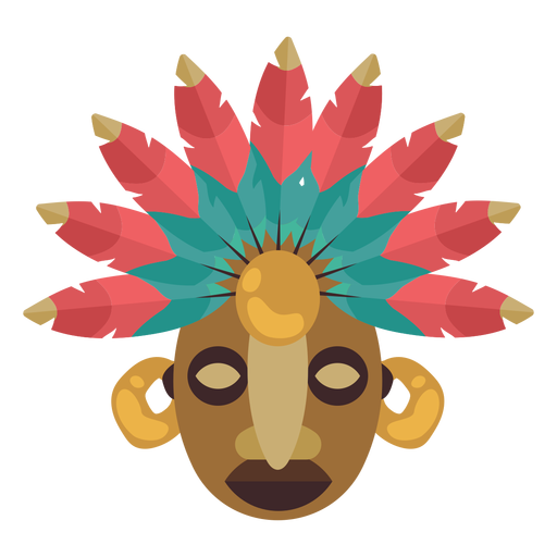 Native american mayan mask Transparent PNG