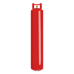 Red gas bottle illustration