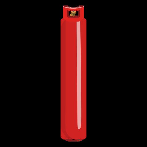 Red gas bottle illustration Transparent PNG