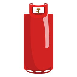 Red gas cylinder illustration