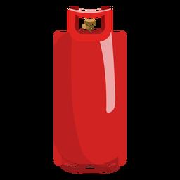 Red gas cylinder illustration